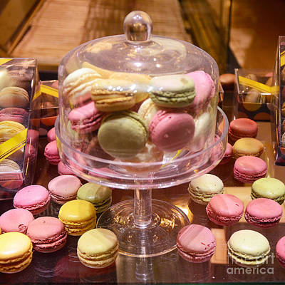 Dreamy Food Photograph - Paris Macarons And Patisserie Bakery - Paris Macarons Desserts Food Photography by Kathy Fornal