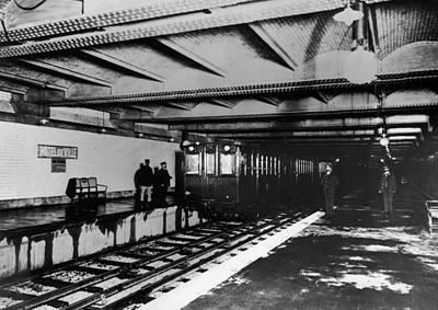 Paris Metro Station, 1910 Print by Granger