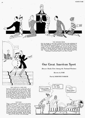 Parker Divorce, 1920 Print by Granger