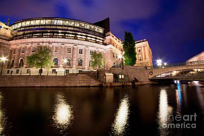 Stockholm Photograph - Parliament Building In Stockholm by Michal Bednarek