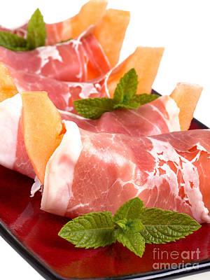 Platter Photograph - Parma Ham And Melon by Jane Rix
