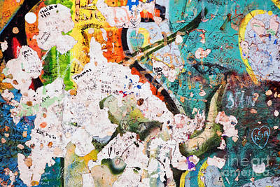 Mauer Photograph - Part Of Berlin Wall With Graffiti by Michal Bednarek