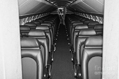 passenger cabin of the British Airways Concorde  Print by Joe Fox