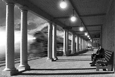 Benches Digital Art - Passing Through by Mike McGlothlen