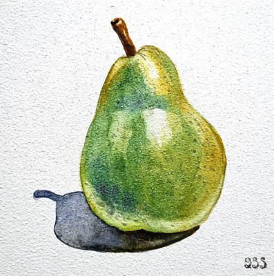 Pear Art Painting - Pear by Irina Sztukowski