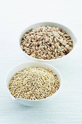 Food And Drink Photograph - Pearl Barley And Quinoa Seeds by Gustoimages