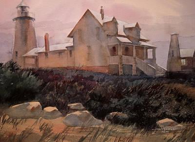 New England Lighthouse Painting - Pemaquid by Jon Hunter