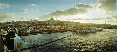 Istanbul Photograph - People Fishing In The Bosphorus Strait by Panoramic Images