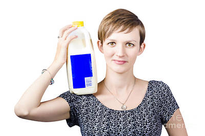 Person With Organic Farm Fresh Milk Print by Jorgo Photography - Wall Art Gallery
