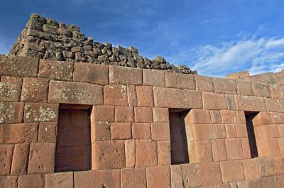 Inca Photograph - Peru, Pisac, Inca Ruins by Jaynes Gallery