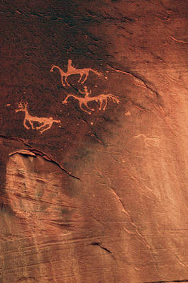 Chelly Photograph - Petroglyph, Canyon De Chelly National by Michel Hersen