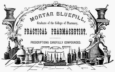 Pharmacy Painting - Pharmacy Sign, 19th Century by Granger