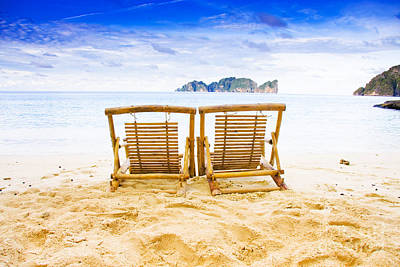 Empty Chairs Photograph - Phi Phi Island Thailand by Jorgo Photography - Wall Art Gallery