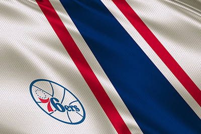 Philadelphia 76ers Uniform Print by Joe Hamilton