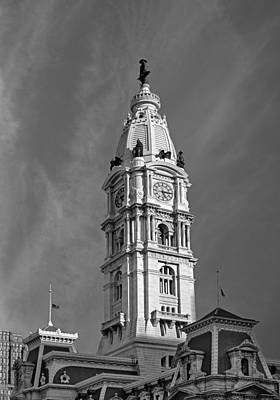 Philadelphia City Hall Tower Print by Susan Candelario