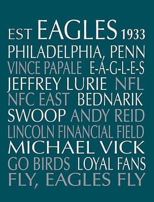Philadelphia Eagles Print by Jaime Friedman