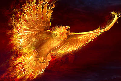 Phoenix Digital Art - Phoenix Rising by Tom Wood