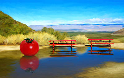Tomato Mixed Media - Picnic Leftover by Snake Jagger