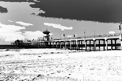 Huntington Beach Photograph - Pier Infinity by RJ Aguilar