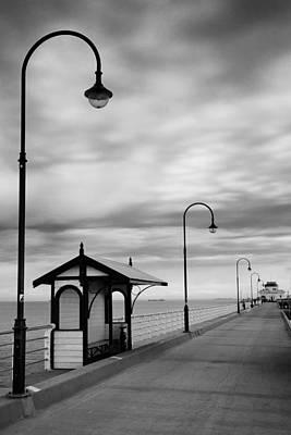 Pier Into The Past Print by Shari Mattox