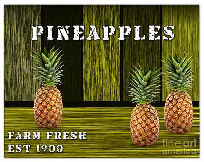 Pineapple Mixed Media - Pineapple Farm by Marvin Blaine