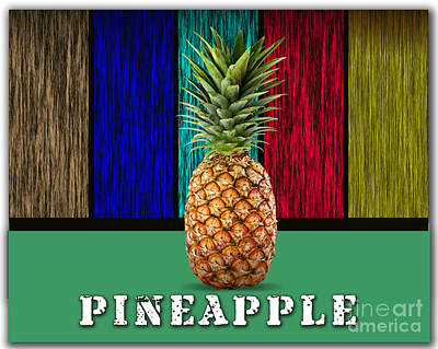 Pineapple Mixed Media - Pineapple by Marvin Blaine