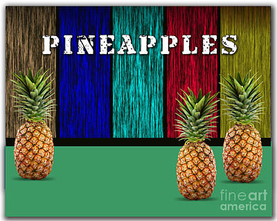 Pineapples Print by Marvin Blaine