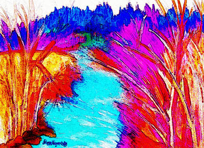 Cumberland River Painting - Piney River Of Spring City by Peggy Leyva Conley