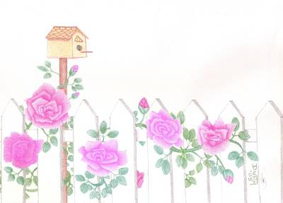 Pink Spring Garden Print by Dusty Reed