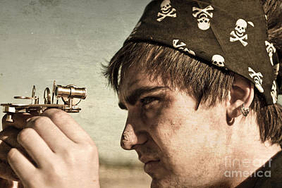 Pirate And Compass Print by Jorgo Photography - Wall Art Gallery