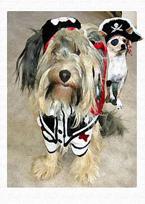 Chihuahua Digital Art - Pirate Dogs by Jane Schnetlage