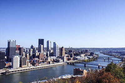 Cityscape Photograph - Pittsburgh South by Michelle Joseph-Long