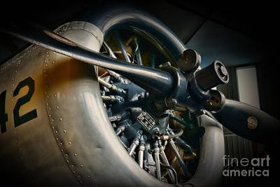 Areoplanes Photograph - Plane Propeller  by Paul Ward