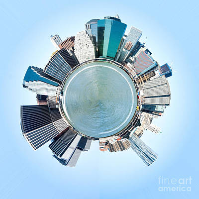 Miniature Nyc Photograph - Planet Manhattan - New York City by Luciano Mortula