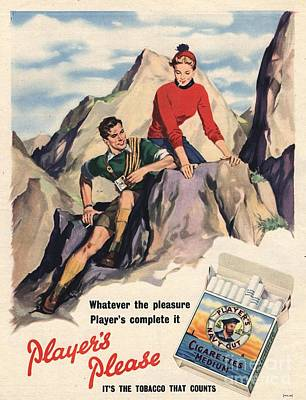Player Drawing - Player�s Navy Cut 1950s Uk Cigarettes by The Advertising Archives