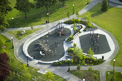 Playground At Cal Anderson Park Print by Andrew Buchanan/SLP