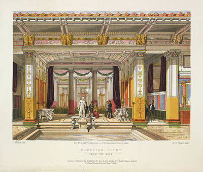 Pompeian Court Print by British Library
