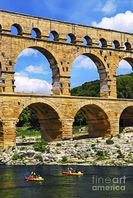 Bridge Photograph - Pont Du Gard In Southern France by Elena Elisseeva