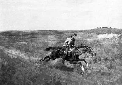Express Photograph - Pony Express Rider by Underwood Archives
