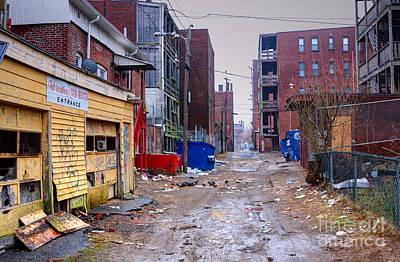Ghetto Photograph - Poor Urban Neighborhood by Denis Tangney Jr