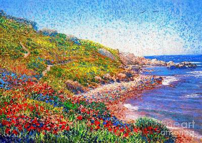 Riviera Painting - Enchanted By Poppies by Jane Small
