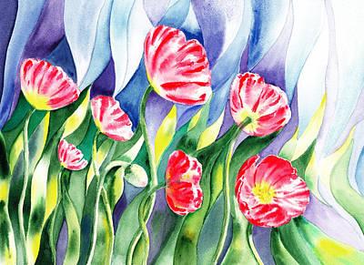 Poppy Field Print by Irina Sztukowski