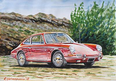 Porsche 911 Print by Rimzil Galimzyanov