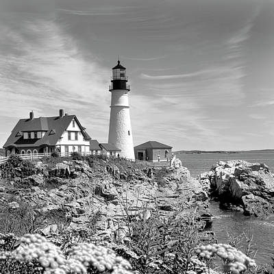 Rocky Digital Art - Portland Head Lighthouse by Mike McGlothlen