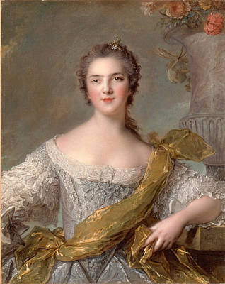 Portrait Der Victoire De France Print by Jean-Marc Nattier