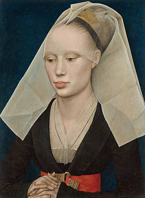 Medieval Painting - Portrait Of A Lady by Rogier van der Weyden