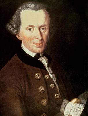 Academic Painting - Portrait Of Emmanuel Kant by German School