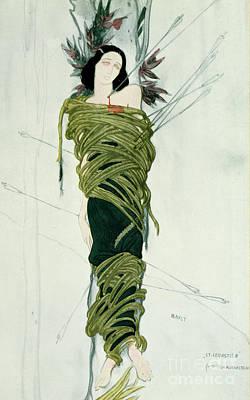 Literature Painting - Portrait Of Ida Lvovna Rubinstein by Leon Bakst