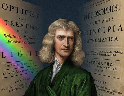 Isaac Newton Photograph - Portrait Of Isaac Newton by David Parker