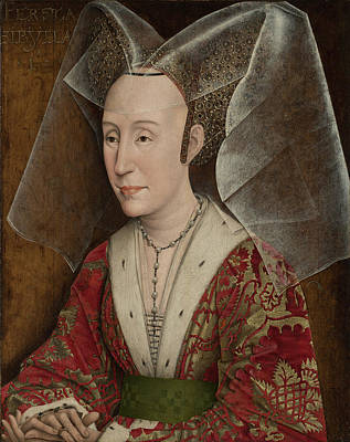 Portrait Of Isabella Of Portugal Print by Workshop of Rogier van der Weyden
